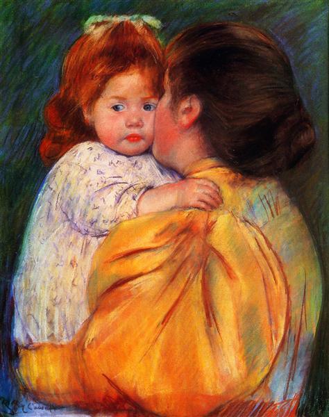 Maternal Kiss, 1896 - Mary Cassatt