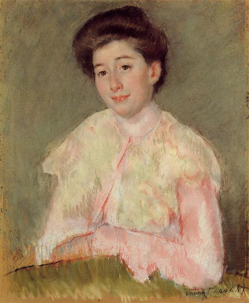 Portrait of a Lady, c.1890 - Mary Cassatt