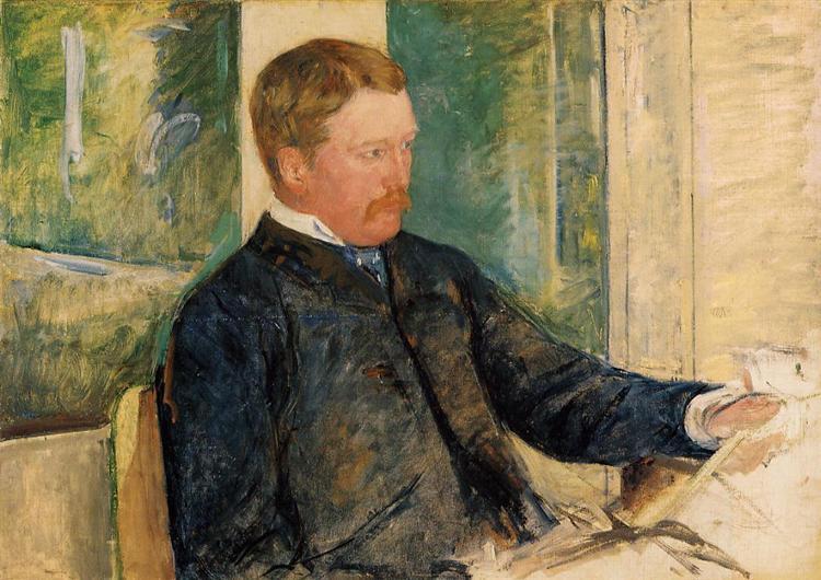 Portrait of Alexander J. Cassatt, 1880 - Mary Cassatt