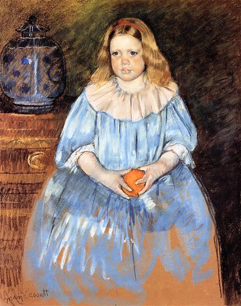 Portrait of Margaret Milligan Sloan (no.2), 1893 - Mary Cassatt