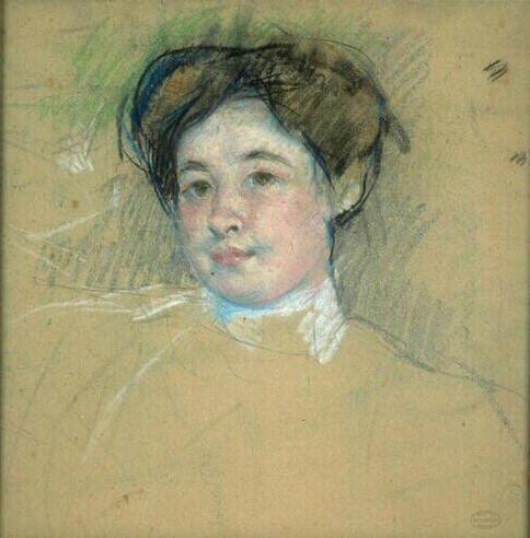 Portraitof youngwoman, 1901 - Mary Cassatt