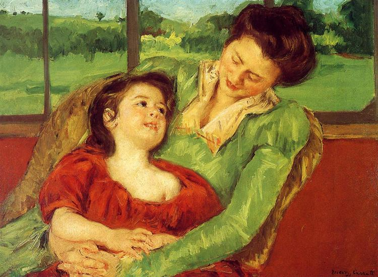 Reine Lefebre and Margot before a Window, 1902 - Mary Cassatt