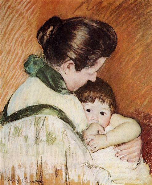 Sleepy Thomas Sucking His Thumb, 1893 - Mary Cassatt