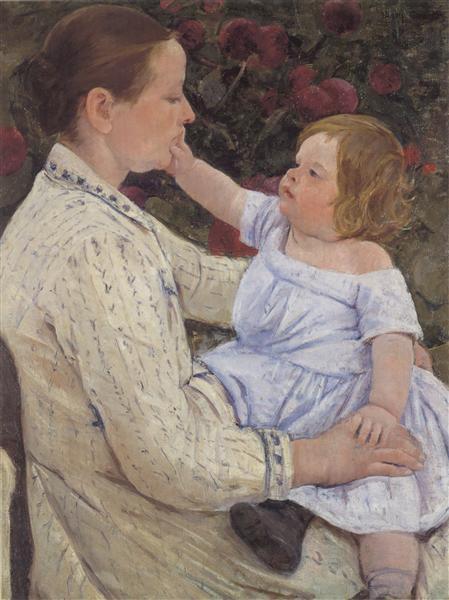 The Child`s Caress, c.1890 - Mary Cassatt