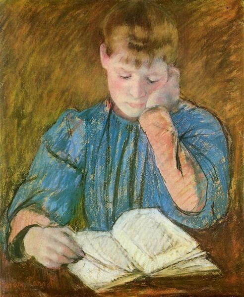 The Pensive Reader, c.1894 - Mary Cassatt