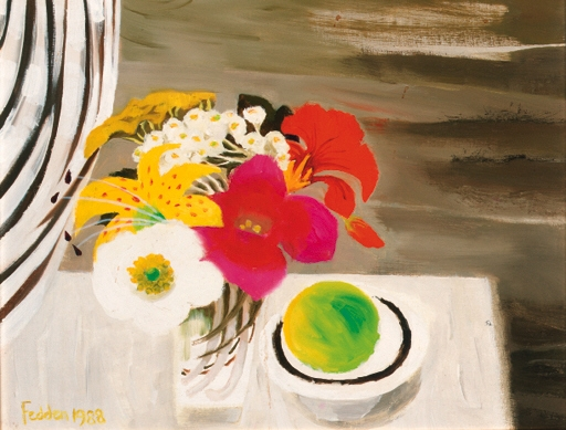 Still Life with Fruit and Flowers, 1988 - Mary Fedden