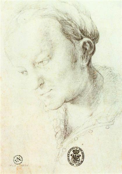 Head of a Young Woman, c.1520 - Matthias Grünewald