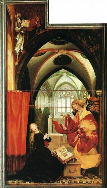 The Annunciation (left wing of the Isenheim Altar), c.1515 - Matthias Grünewald