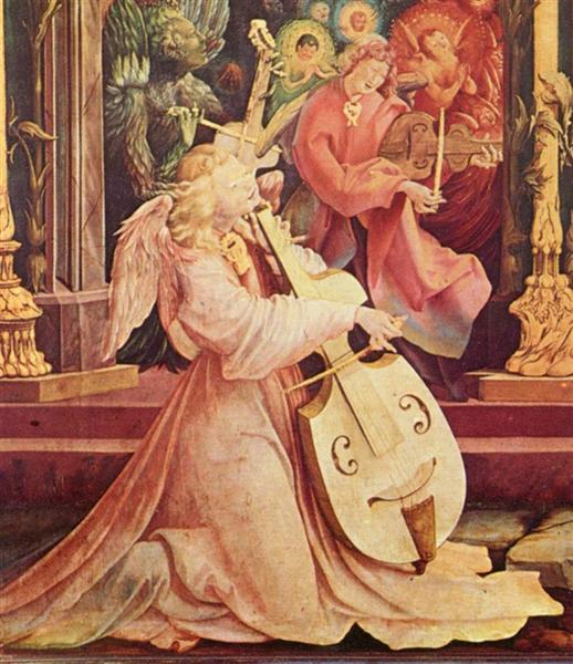 The Concert of Angels (detail from the Isenheim Altarpiece), c.1512 - c.1516 - Matthias Grünewald
