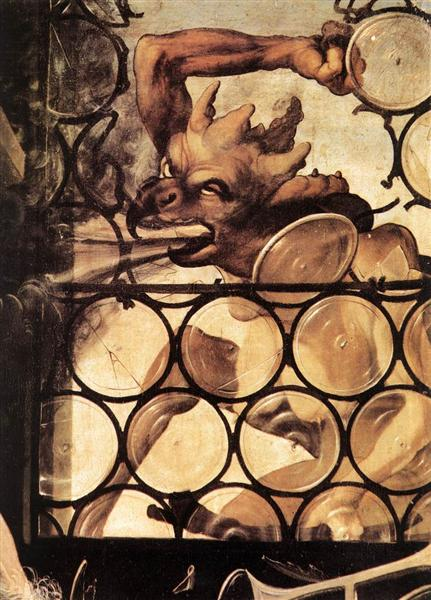 The Devil Attacking the Window (detail from St. Anthony the Hermit from the Isenheim Altarpiece), c.1512 - c.1516 - Matthias Grünewald