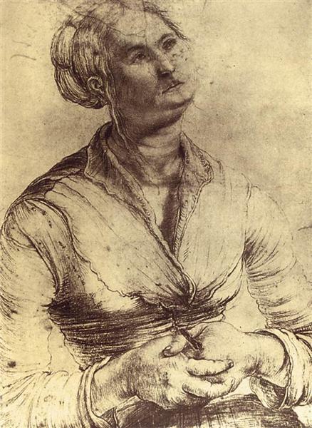 Woman Looking Up, 1512 - 1514 - Matthias Grünewald