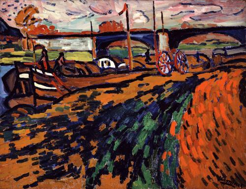Barges in Chatou, 1905 - Моріс де Вламінк