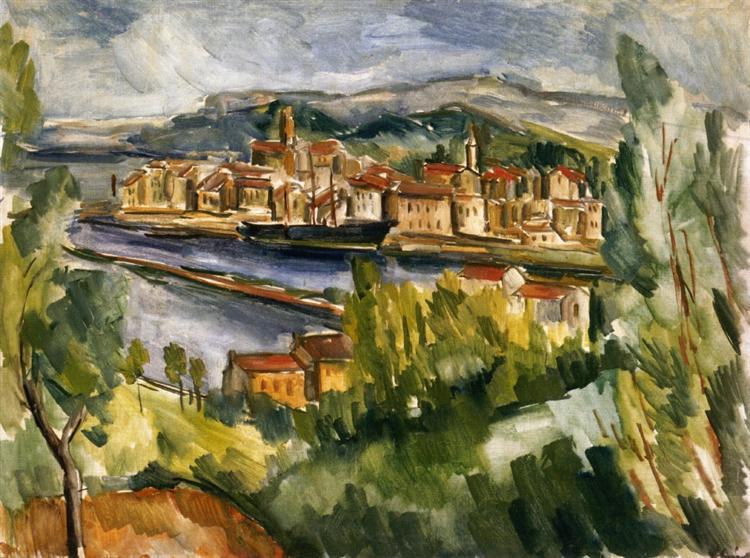 Near the Estuary of the Seine, 1912 - 莫里斯·德·弗拉芒克