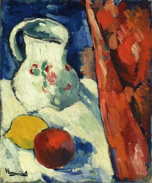 Still Life with Pitcher and Fruit, 1900 - 1906 - Maurice de Vlaminck