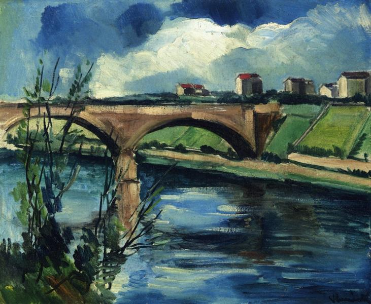 The Bridge at Chatou, 1912 - Maurice de Vlaminck