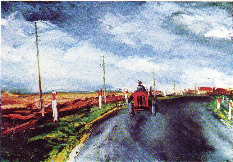 The Red Tractor, 1956 - Maurice de Vlaminck