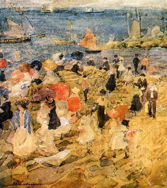 A principios de la playa - Maurice Prendergast