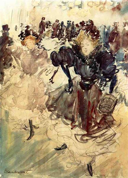 Los bailarines - Maurice Prendergast