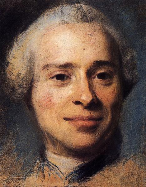 Portrait of Jean Le Rond d'Alembert, 1753 - Quentin de La Tour