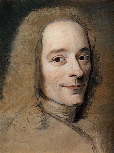 Preparation to the portrait of Voltaire - Maurice Quentin de La Tour