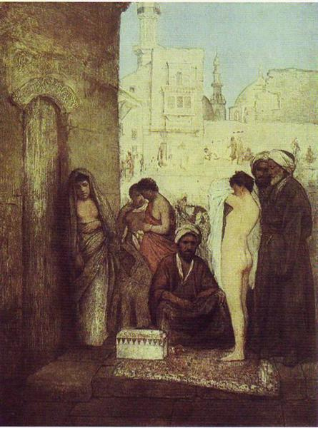 Cairo Slave Market, 1877 - Maurycy Gottlieb