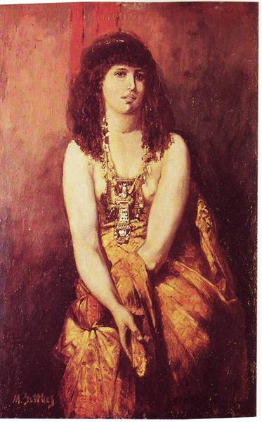 Odalisque, 1877 - Maurycy Gottlieb