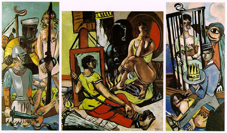 Triptych of the Temptation of St. Anthony, 1936 - 1937 - Max Beckmann