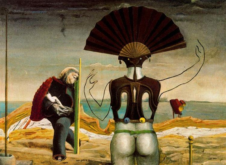Woman, Old Man and Flower Femme, c.1923 - Max Ernst