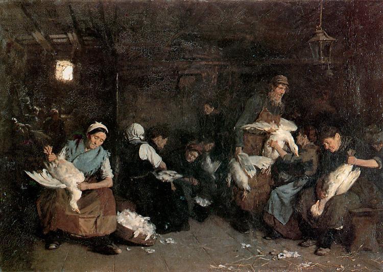 Gänserupferinnen, 1871 - Max Liebermann