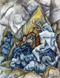 Figure in un paesaggio - Max Weber
