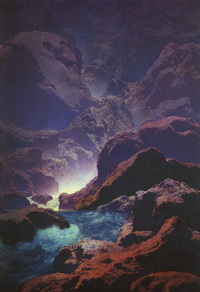 Moonlight, 1932 - Maxfield Parrish