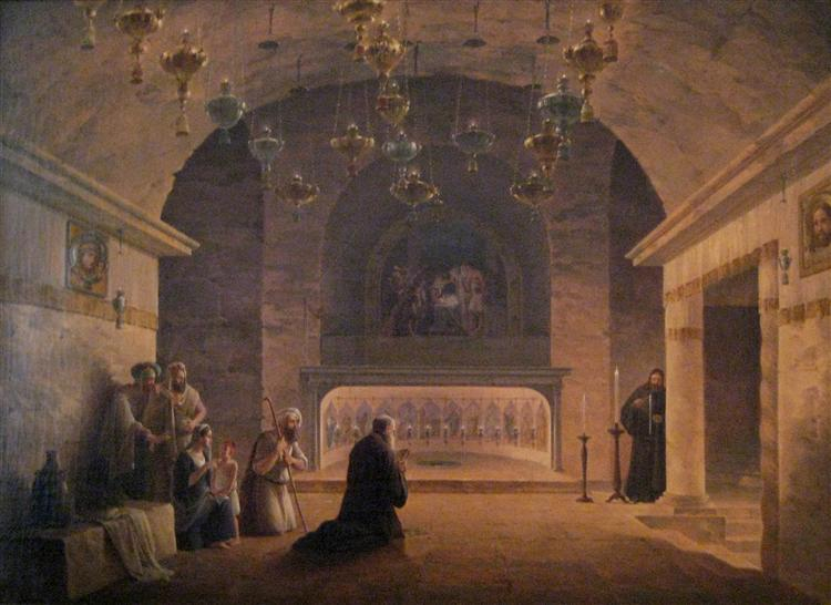 View of Church of the Nativity in 1833, 1833 - Maxim Nikiforowitsch Worobjow
