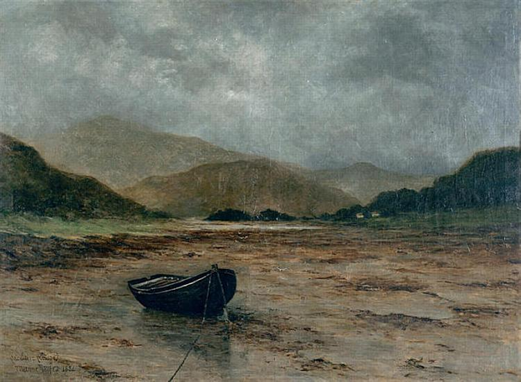 Beached boat, 1882 - Maxime Maufra