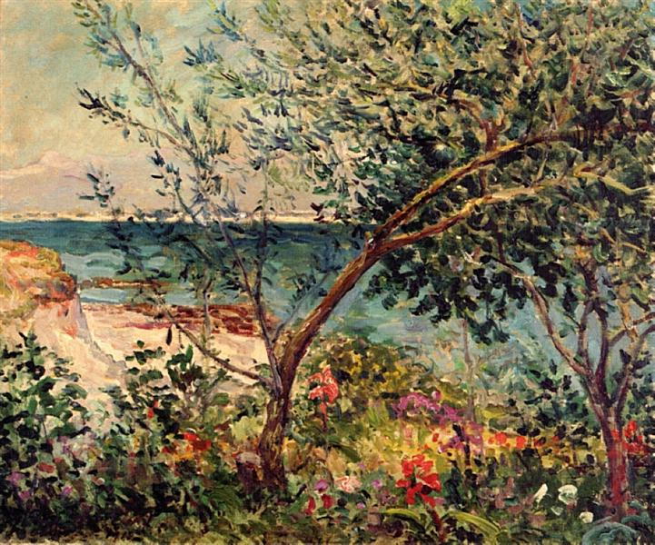 Monsieur Maufra's Garden by the Sea - Maxime Maufra