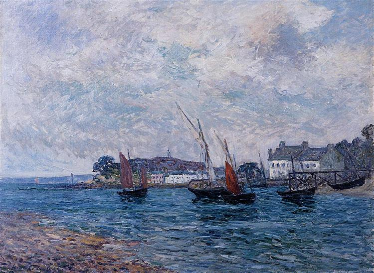 Reentering Port at Douarnenez (Finistere), 1906 - Максим Мофра