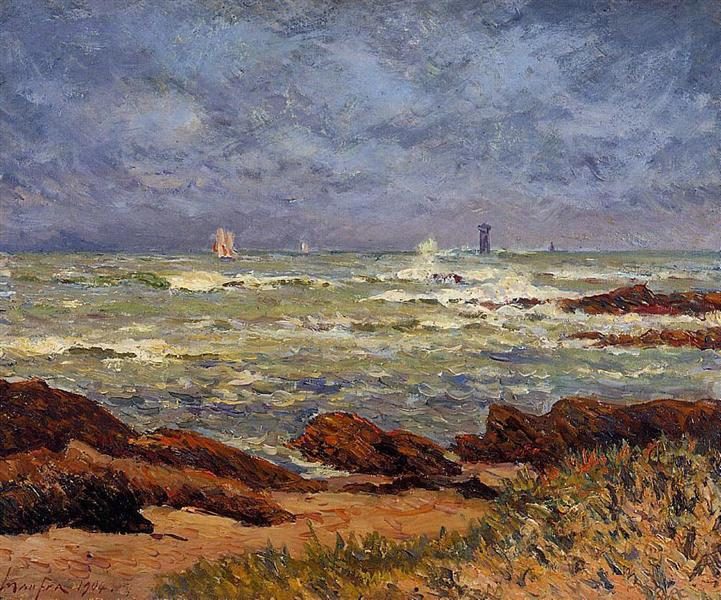The Barges Lighthouse, 1904 - Maxime Maufra