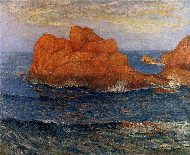 The Red Rocks at Belle Ile - Maxime Maufra