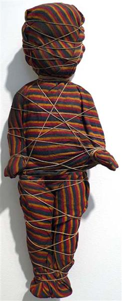Wrapped Doll (striped) - May Wilson