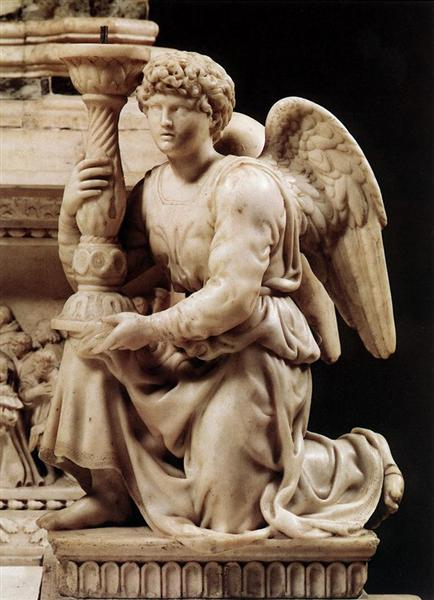 Angel with Candlestick, 1495 - Michelangelo