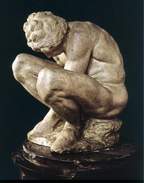 Crouching Boy, 1533 - Микеланджело