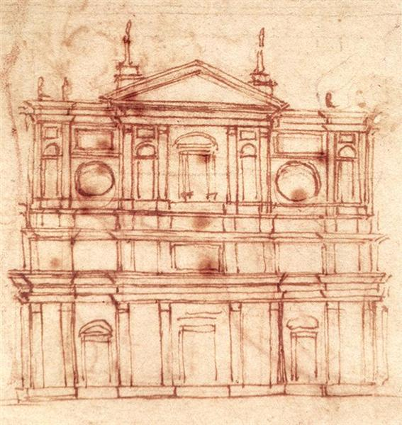 San Lorenzo, façade, c.1517 - Michelangelo