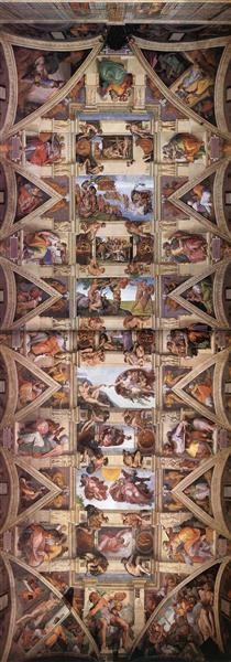 Sistine Chapel Ceiling, 1508 - 1512 - Michelangelo