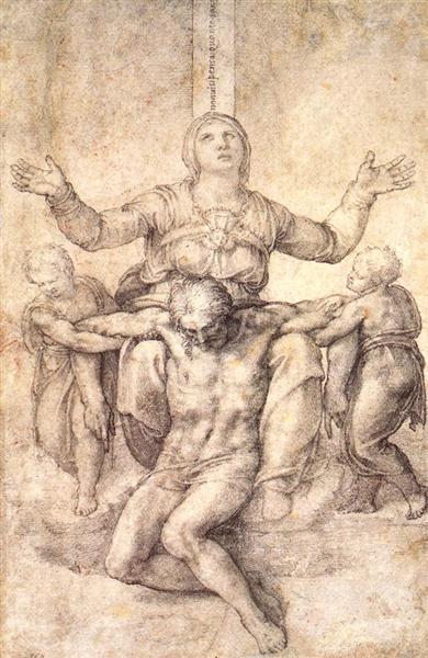 "Study for the ""Colonna Pieta"", c.1538 - Michelangelo"