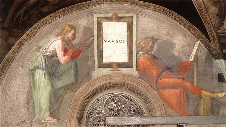 Предки Христа: Наассона, 1512 - Мікеланджело