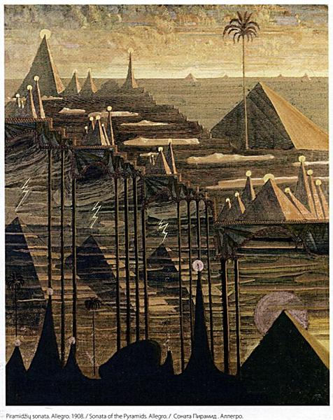 Alegro (Sonata of the Pyramids), 1909 - Mikalojus Konstantinas Ciurlionis