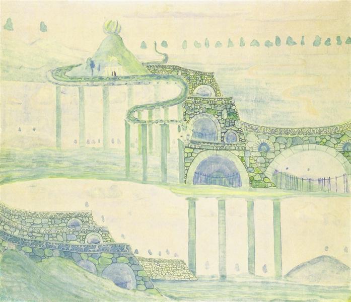 Allegro (Sonata of the Serpent), 1908 - Mikalojus Konstantinas Čiurlionis