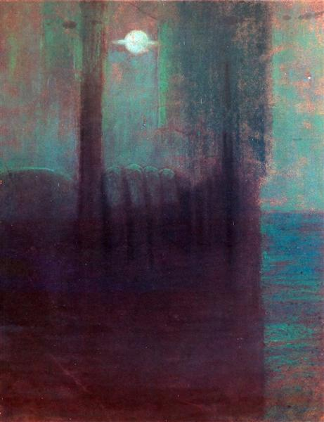 Night, 1904 - Mikalojus Konstantinas Ciurlionis