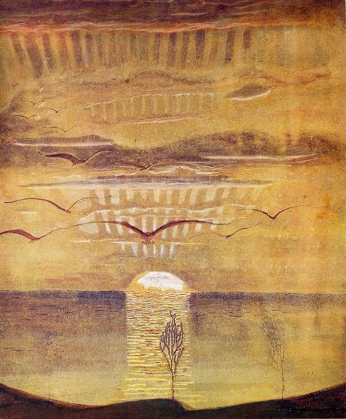 Sunset, 1908 - Mikalojus Konstantinas Ciurlionis