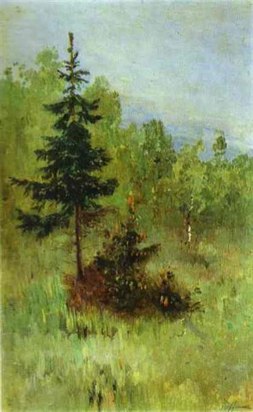 A Firtree, 1890 - Mikhail Nesterov