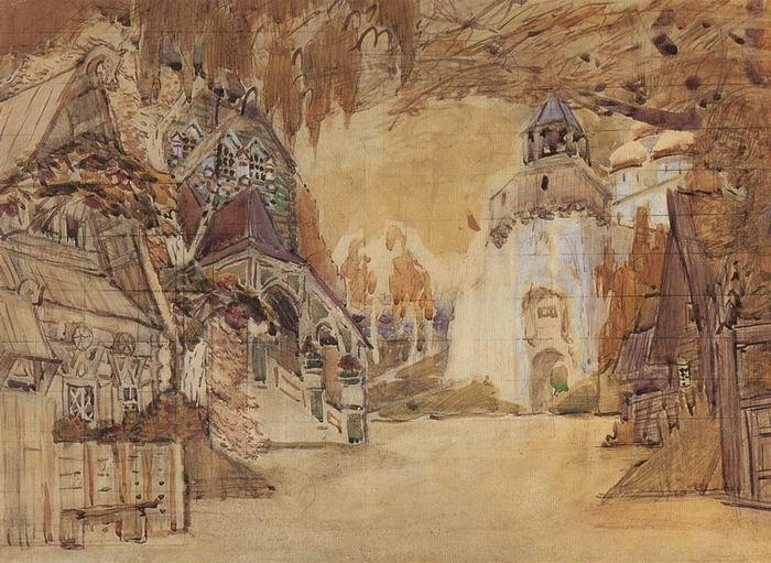 The Alexander Sloboda, 1899 - Mikhail Vrubel